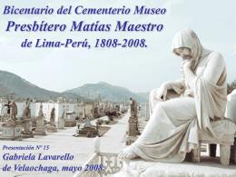 museo cementerio presbitero maestro