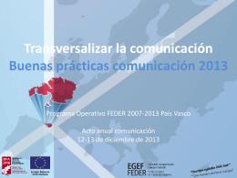 Transversalizar la comunicación, Diputación Foral de Vizcaya