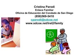 Cristina Parodi Enlace Familiar Oficina de Educación del Condado