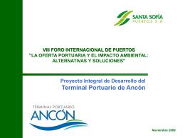 Implementación del Terminal Portuario Punta Vegueta