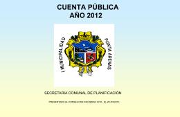 Cuenta Publica 2012 - Municipalidad de Punta Arenas