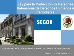 Presentación: Ley para la Protección de Personas