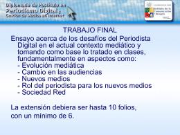 Fundamentos del Periodismo Digital - Clase 7