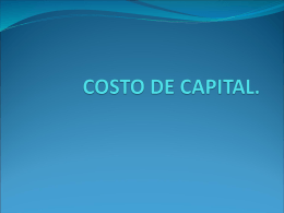 Costo de capital (presentación Power Point)