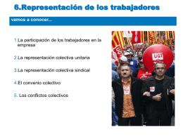 6.Representación de los trabajadores