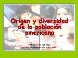 Origen y diversidad de la población americana