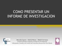 Como presentar un informe de investigación