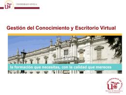 Gestión del Conocimiento y Escritorio Virtual