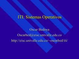 ITI: Sistemas Operativos