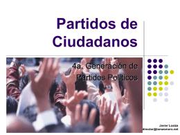 Partidos de Ciudadanos