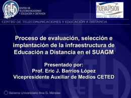 Proceso de evaluación,SUAGM-Eric Barrios