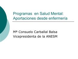 Programas en Salud Mental