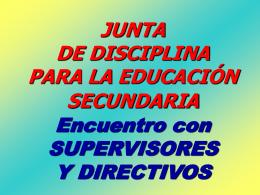 Junta de disciplina Secundaria