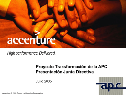 Presentación a la Junta Directiva - Resultados PMO