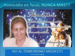 Homicidio de Rome - no al terrorismo médico