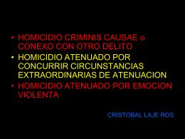 homicidio. dr. laje ross - Curso Psicología Forense