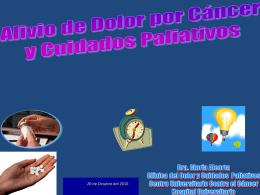 Manejo del dolor en cáncer y cuidados paliativos