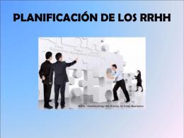 PLANIFICACIÓN DE LOS RRHH