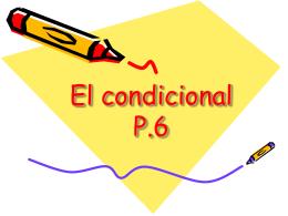 El condicional - Spanish Class Info-