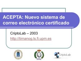 ACEPTA: Nuevo sistema de correo electrónico certificado