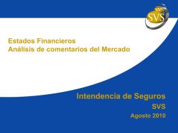 Comentarios del mercado al borrador IFRS Reservas Técnicas