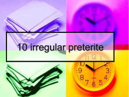 10 irregular preterite