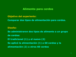 Alimento para cerdos  - Jorge Galbiati | Estadística