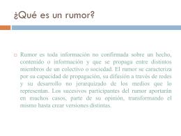 Psicosociologia de los rumores