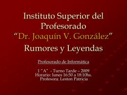 Rumores y Leyendas