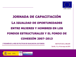 Diapositiva 1 - Instituto de la Mujer
