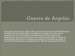 Presentación Guerra de Argelia.