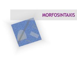 14. Morfosintaxis