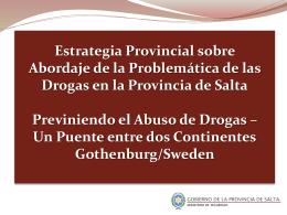 AGENCIA ANTIDROGAS DE LA PROVINCIA DE SALTA.