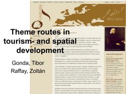Theme routes in tourism