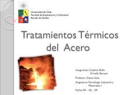 Tratamientos Térmicos del Acero