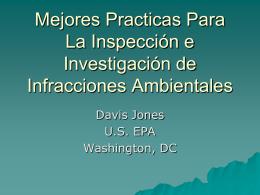 Capacitación de Inspectores, Investigadores y Policía