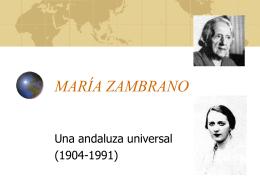María Zambrano. Vida - IES JORGE JUAN / San Fernando