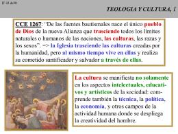 TEOLOGIA, CULTURA Y VIDA, 1