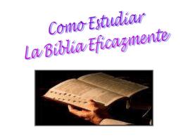 La Biblia es inspirada por Dios