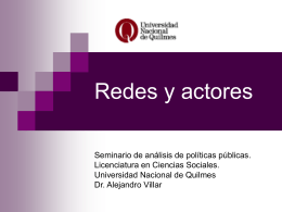 Los actores del desarrollo local - Universidad Nacional de Quilmes