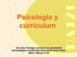 César Coll, Psicología y Curriculum