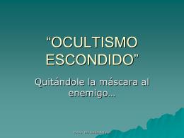 """OCULTISMO ESCONDIDO"""