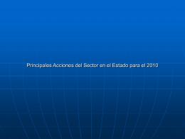 P ACCIONES PARA EL 2010 OAXACA