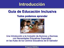INTRODUCCIÓN Guía de Educación Inclusiva Todos podemos