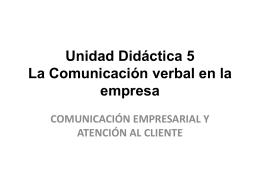 Unidad Didáctica 3: La Comunicación
