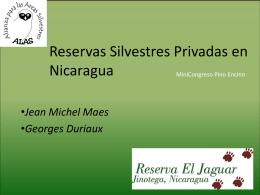 10. Reservas Silvestres Privadas en Nicaragua. Reserva