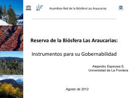 presentación - Red Reserva Biosfera Araucarias