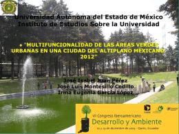 Multifuncionalidad de las áreas verdes urbanas en