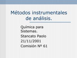 Métodos instrumentales de análisis.