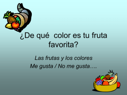 ¿De qué color es tu fruta favorita?